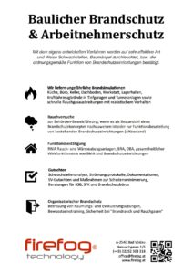 Baulicher Brandschutz & Arbeitnehmerschutz